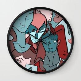 Melting Faces Wall Clock