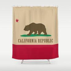 California Republic Shower Curtain