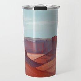 Red Landscape Travel Mug