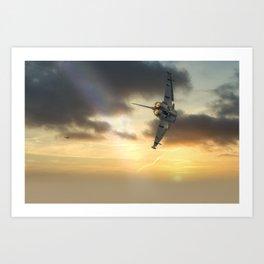RAF Typhoon at sunset Art Print