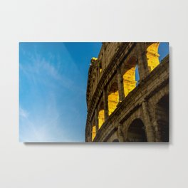 Sunset Over The Roman Colosseum. Metal Print