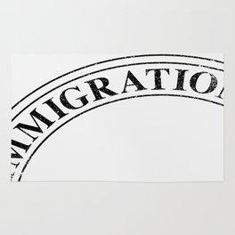 Immigration Stamp Rug