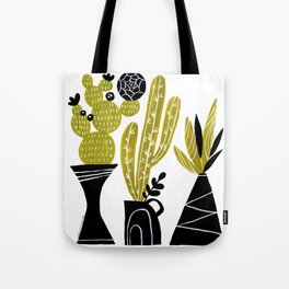 GREEN AND BLACK CACTUS Tote Bag
