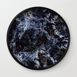 """""""Number 5"""" Abstract Painting by Mark Compton Wall Clock"""