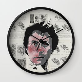 Hulking out in red Wall Clock