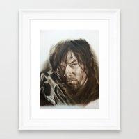 daryl dixon Framed Art Prints featuring Daryl Dixon by David Nash