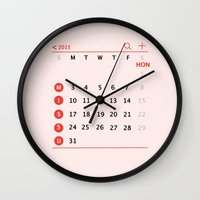 calendar Wall Clocks featuring our calendar by Florence Yu