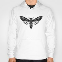 moth Hoodies featuring Moth by Jimmy Breen