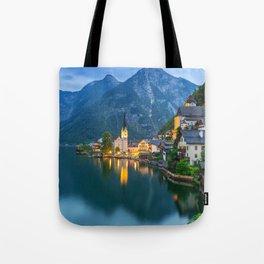 Hallstatt Village, Alps Tote Bag