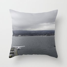 Seaplane and Stanley Park Throw Pillow