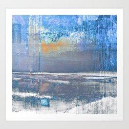 Blue Color Patches Art Print