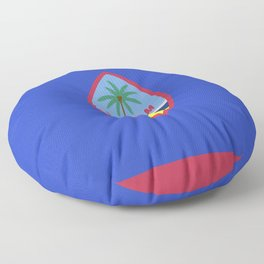 Guam flag emblem Floor Pillow