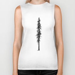 Love in the forest - a couple and their dog under a solitary, towering Douglas Fir tree Biker Tank