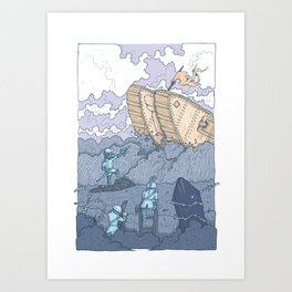 The Trench Blue Art Print