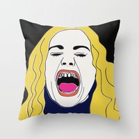 true blood Throw Pillows featuring Anna Paquin / True Blood / Sookie Stackhouse by cleopetradesign.com