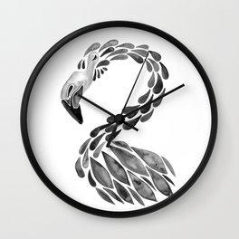 Miami Flamingo – Black Ink Wall Clock