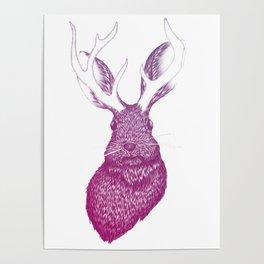 Ombre Jackalope Poster