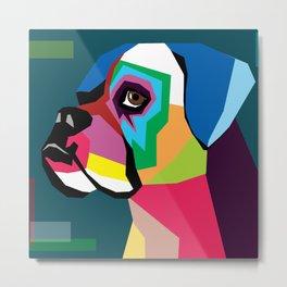 dog bulldog Metal Print