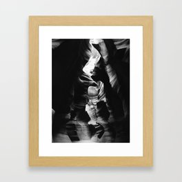 Antelope Canyon Black & White Framed Art Print