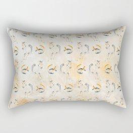 Golden Equine Rectangular Pillow