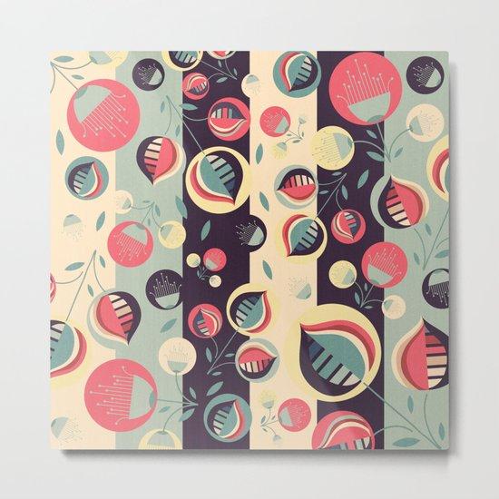 50's floral pattern II Metal Print