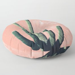 Pink Cactus Boho Mexican Floor Pillow