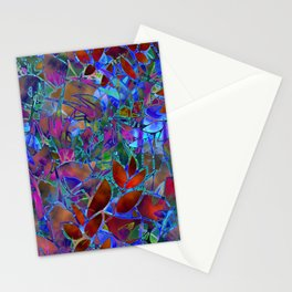 Floral Abstract Stained Glass G174 Stationery Cards