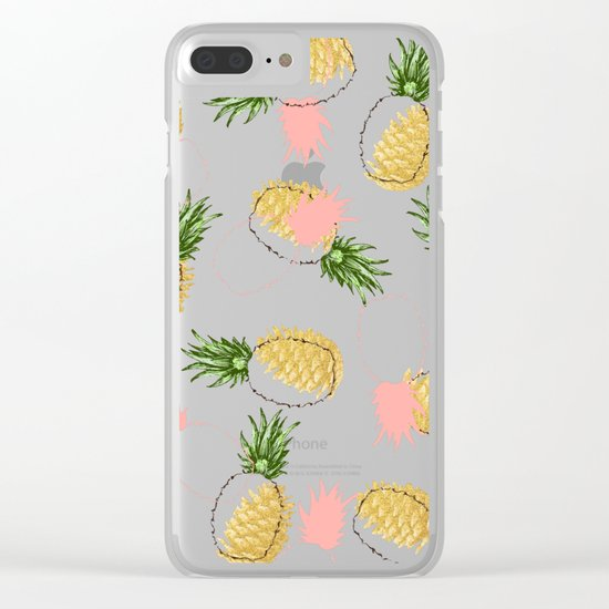 Pineapples & Pine Cones #society6 #decor #buyart Clear iPhone Case