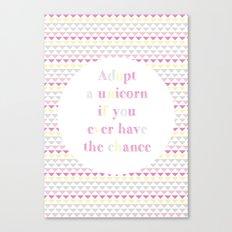 Adopt a Unicorn Canvas Print