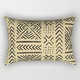 Line Mud Cloth // Tan Rectangular Pillow