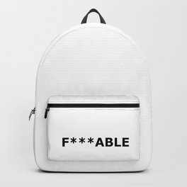F***able Black Backpack