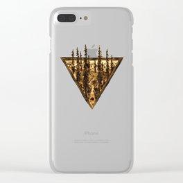 Wood Burn #2 Clear iPhone Case