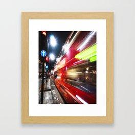quick bus in london Framed Art Print