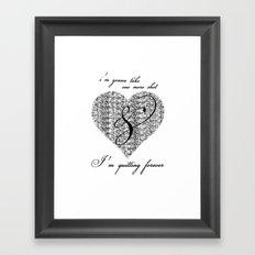 Cross my heart, cross my fingers. Framed Art Print