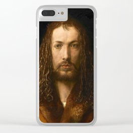 Self-Portrait at the Age of Twenty Eight by Albrecht Dürer Clear iPhone Case