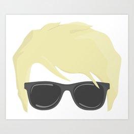 Blonde bloke with sunglasses Art Print