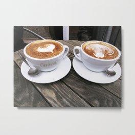 Latte Art Metal Print