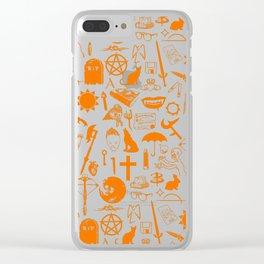 Buffy Symbology, Orange Clear iPhone Case