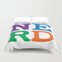 nerd Duvet Covers featuring Nerd by Jenna Allensworth