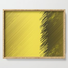 many multicolored  gold,golden stripes friendly Serving Tray