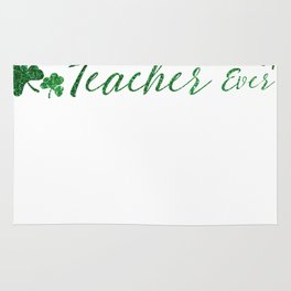Luckiest Teacher Ever St Patricks Day Teacher Rug