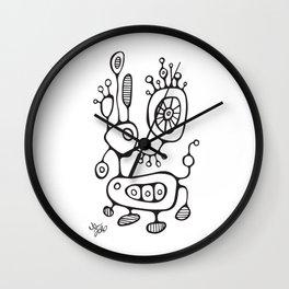 Awkward Reindeer Wall Clock