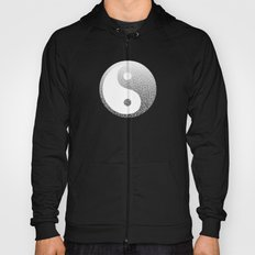Ombre black and white swirls doodles Hoody