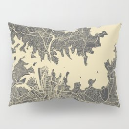 Sydney map yellow Pillow Sham