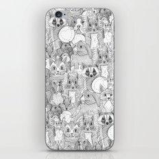 crazy cross stitch critters iPhone & iPod Skin