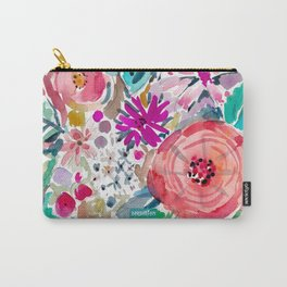 High by the Beach Painterly Floral Carry-All Pouch
