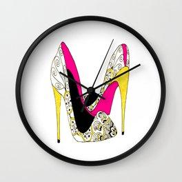 Fashion shoe art Wall Clock