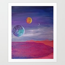 Day At The Beach | Original Art Piece | Alien Beach Day Art Print