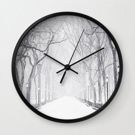 Snowy Park Wall Clock