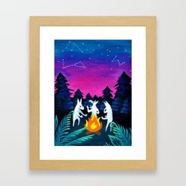 Campfire Howlers Framed Art Print